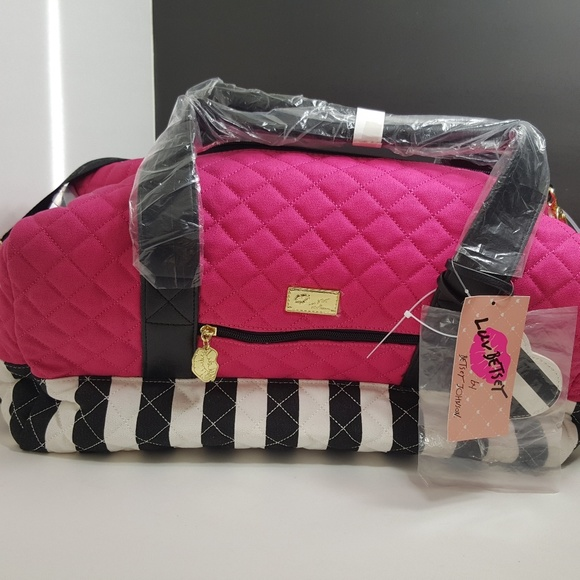 Betsey Johnson Handbags - 2Day Sale!Luv Betsey Johnson Canvas Weekender Bag